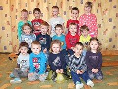 Třída D ze 2. mateřské školy v Jáchymově ulici v Jindřichově Hradci.