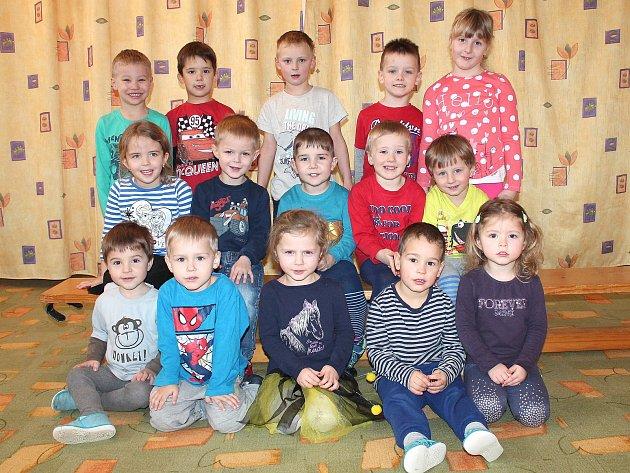 Třída D ze 2.mateřské školy vJáchymově ulici vJindřichově Hradci.