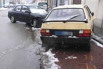 Dopravní nehoda ve Zbuzanech.