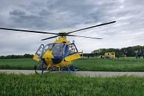 Vrtulník jihočeské letecké záchranné služby.