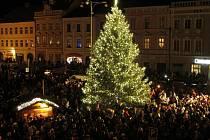 Rozsvícení stromku v Jindřichově Hradci.