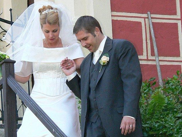 Sobota byla svatebním dnem i pro Gabrielu Nedvědovou z Č. Budějovic a Zdeňka Strnada z J. Hradce.