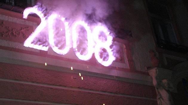 Ohňostroj 1. ledna 2008