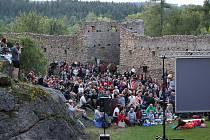 Snímek měl premiéru na zřícenině hradu Landštejn, který se vyjímá v České Kanadě.
