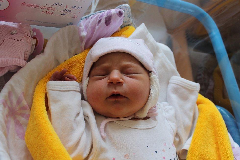 Diana Leštinová, Jindřichův Hradec.Narodila se 22. března Tereze a Martinu Leštinovým, vážila 3 750 gramů a měřila 49 centimetrů.