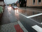 V pátek odpoledne přišel přívalový déšť i do Jindřichova Hradce.