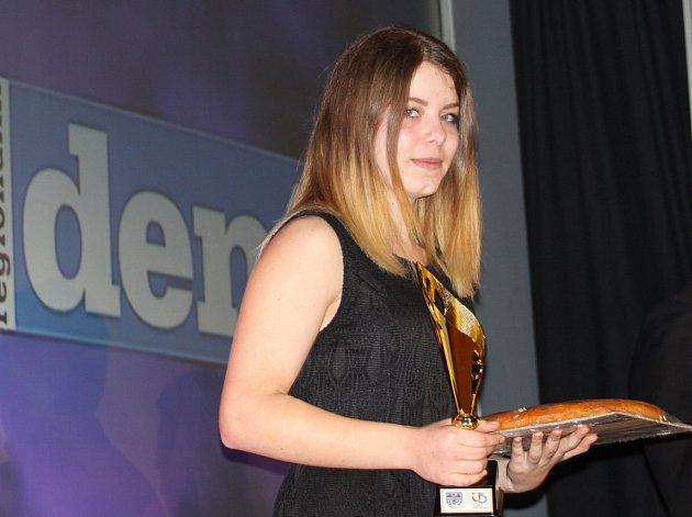 Taekwondistka Anežka Čurdová ovládla ve sportovním boji kategorii juniorek do 64 kilogramů.