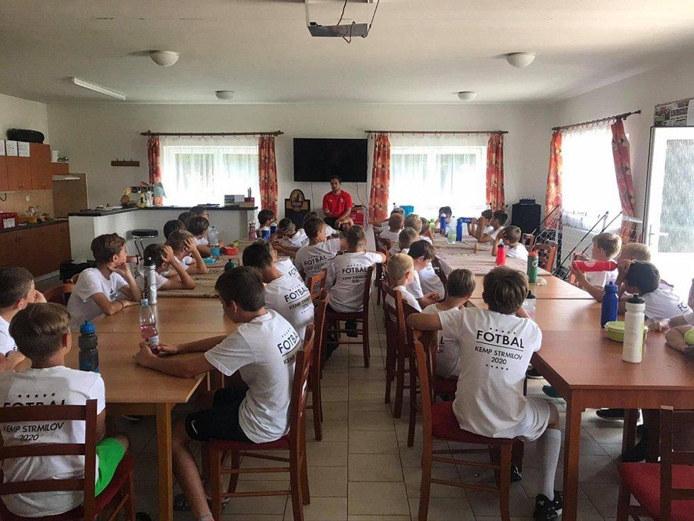 Ve Strmilově se konal kemp pro talentované fotbalisty z Jindřichohradecka, jehož se zúčastnilo pět desítek dětí.