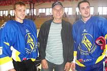 Hokejisté Jan Marek (vlevo) a Aleš Kotalík budou ozdobou slávy v Lipolci.