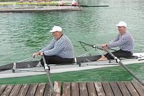 JIndřichohradečtí veslaři na mnichovské regatě.
