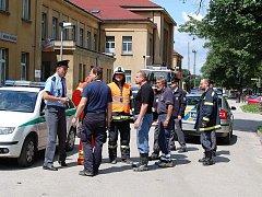 Nález bomby u českovelenického vlakového nádraží vyvolal ve městě u hranic rozruch. Porada zástupců integrovaného záchranného systému.