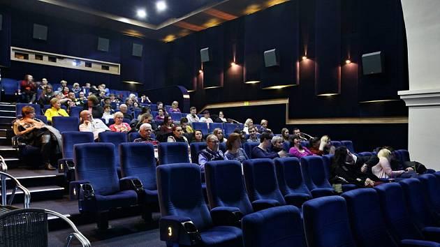 Kino Světozor v Třeboni na Masarykově náměstí.