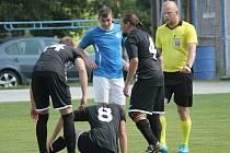 Krajská fotbalová I. B třída mužů pokračovala devátým kolem.