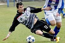 Záložník Třeboně Jakub Janoušek dostal svůj tým ve Zličíně do vedení, které však Jihočeši neudrželi.