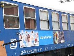Preventivní vlak dorazil i do Jindřichova Hradce.