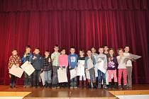 Děti z Nové Bystřice soutěžily v recitaci a nikdo neodešel bez odměny.