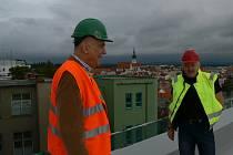 Nový pavilon D jindřichohradecké nemocnice se blíží k dokončení.