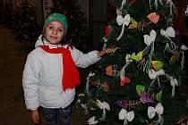 Vernisáž výstavy vánočních stromků.
