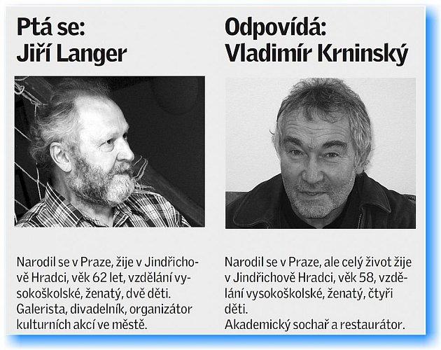 Štafetový kolík minulý týden předal Jiří Langer Vladímíru Krninskému.