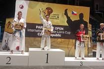Vít Masař v Pardubicích zvítězil v kata juniorů.