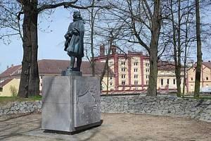 Pomník Jakuba Krčína z Jelčan u třeboňského Světa.