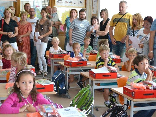 První školní den v Základní škole Na Sadech v Třeboni.