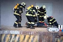 Jindřichohradečtí dobrovolní hasiči cvičili v Kardašově Řečici.