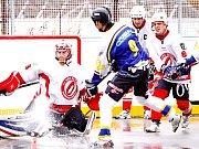 Účastníci hokejbalového turnaje v Suchdole nad Lužnicí.
