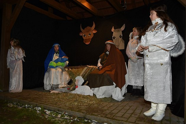 Ve Stříbřeci se odehrál vánoční Příběh o Ježíškovi.