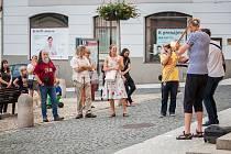Koncerty na náměstí se konají v Třeboni každé pondělí.