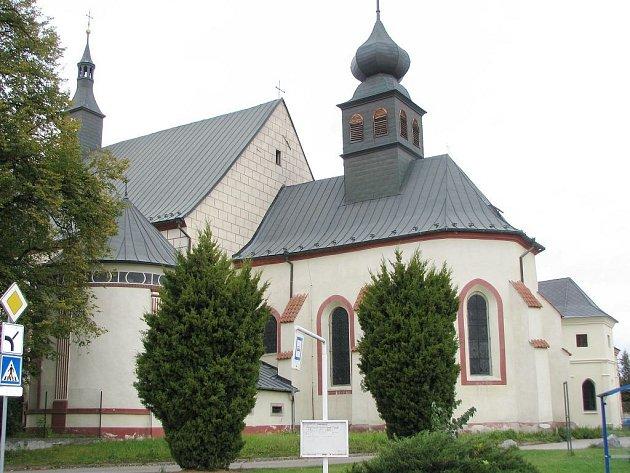 Kostel svaté Kateřiny a klášter františkánů v Jindřichově Hradci.