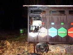 POHLED NA VČELÍN v Suchdole nad Lužnicí, který v noci na pondělí zasáhl požár.