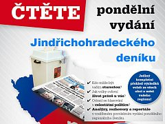 V pondělním vydání najdete kompletní výsledky komunálních voleb ve všech obcích Jindřichohradecka.