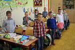 První školní den v základní škole Boženy Němcové v Dačicích.