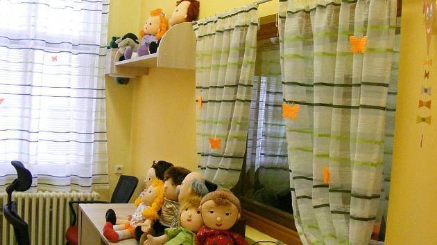 Modernizované kanceláře, které jsou speciálně vybaveny pro účely výslechů zvláště zranitelných obětí.