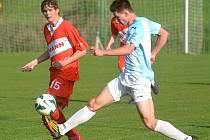 Jindřichohradečtí fotbalisté prohráli v Lažištích 0:2.
