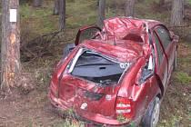 Dopravní nehoda u Dolního Bolíkova.