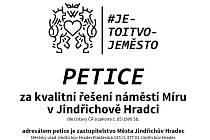 Záhlaví petice za kvalitní řešení náměstí Míru v Hradci.