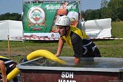 Vítězství si mezi mužskými týmy na hamerském Memoriálu Františka Outlého vybojovali hasiči z Markvarce, a to s časem 21,83.