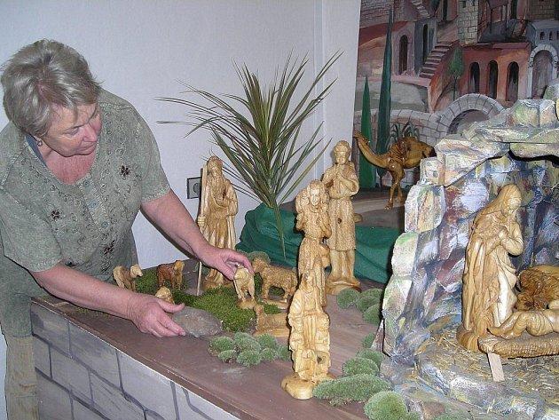Betlém ze santalového dřeva bude jedním z exponátů výstavy v třeboňském muzeu.