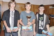 Vítězné družstvo (zleva) Lukáš Rejthar, Martin Schönbauer a Martin Jasanský.