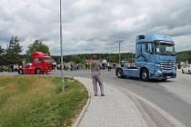 Třeboňskem projela spanilá jízda kamionů při Truck Show Lužnice.