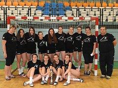Jindřichohradecké mladší dorostenky obsadily v Česko-Slovenském poháru druhou příčku.
