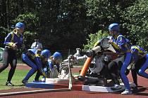 V Jindřichově Hradci se konala krajská soutěž v požárním sportu mužů, žen a dorostu.