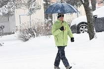 Sníh na Jindřichohradecku. Ilustrační snímek.