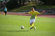 O vítězný gól jindřichohradeckých fotbalistů se na hřišti Sedlčan postaral záložník Martin Janák.