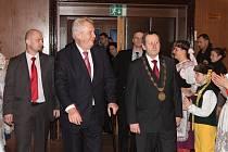 Návštěva prezidenta Miloše Zemana v Jindřichově Hradci
