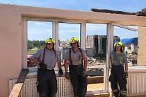 Suchdolští dobrovolní hasiči vypomáhali v Lužicích na Moravě.