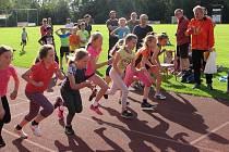 Také v Jindřichově Hradci se atleti zapojili do celorepublikové akce Spolu na startu.