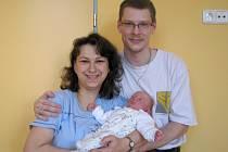 Matouš Jan Vojtek z Veselí nad Lužnicí se narodil 2. března 2012 Ivě a Radovanu Vojtkovým. Měřil 51 centimetrů a vážil 3 750 gramů.